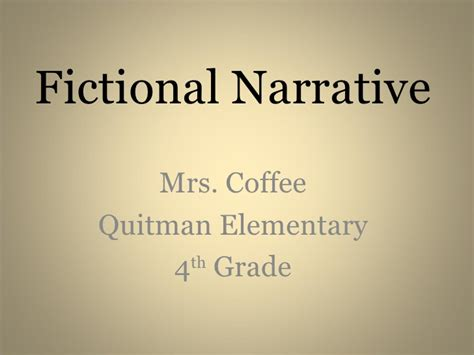 Fictional Narrative Essay Exles by Fictional Narrative