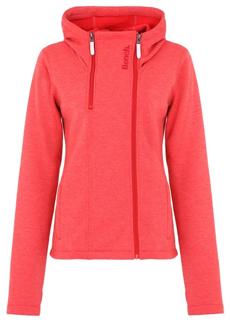 red bench jacket bench sandray b hooded sweat jacket in red lyst