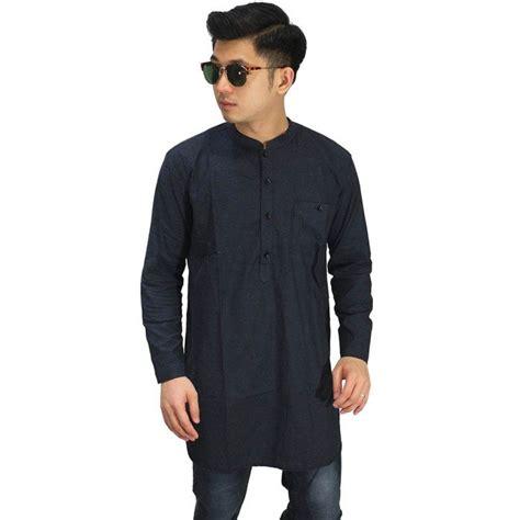 Gamis Kaos Pakistan Kurta Hijau Army Baju Koko Pria Murah baju koko kurta gamis navy baju muslim pakistan