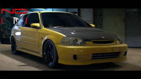 honda civic 2000 modified honda civic type r 2000 modified nfs2015 sound youtube