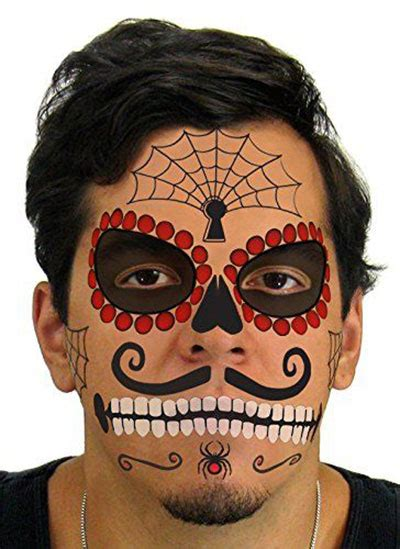 temporary face tattoos halloween 15 cheap scary temporary tattoos 2017