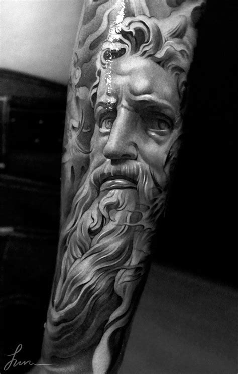 greek statue tattoo lust impressive detailed tattoos fonda lashay