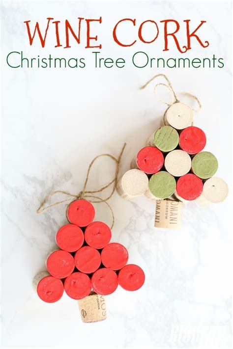 wine cork christmas tree ornaments how to make wine cork tree ornaments modern