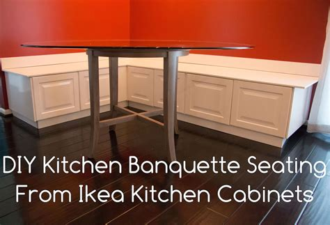 Diy Banquette Cushions by Diy Kitchen Banquette Bench Seating Using Cabinets