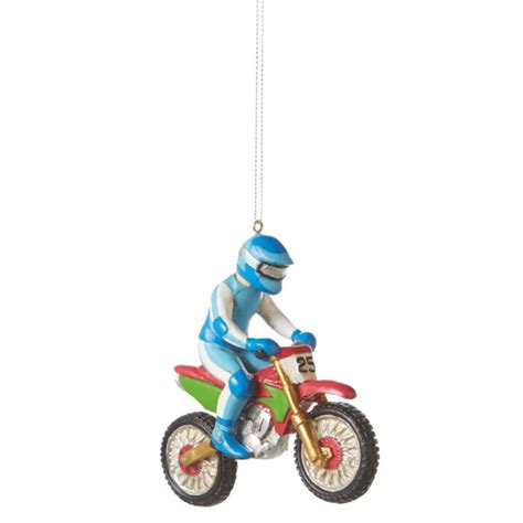 motocross bike christmas ornament