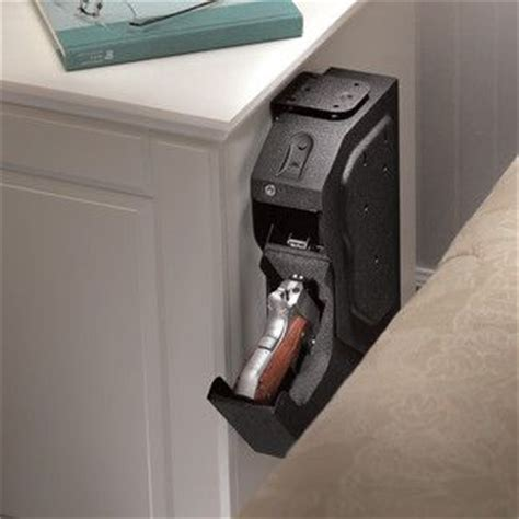 biometric lock gun safe for nightstand in bedroom