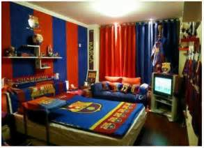 cool room themes cool boys bedroom decoration with fc barcelona theme home design ideas