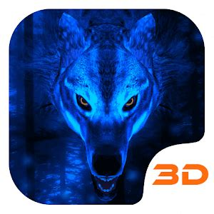google themes wolf ice wolf 3d theme android apps on google play