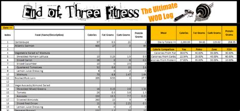 Review The Ultimate Wod Log Crossfit Workout Template
