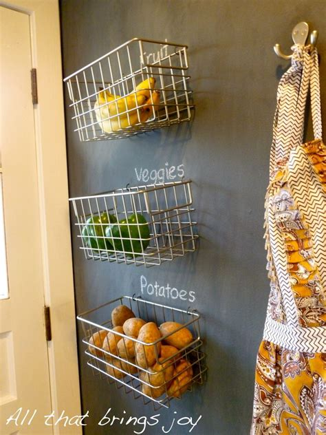 Small Kitchen Pantry Ideas by Our New Obsession Hanging Fruit Baskets