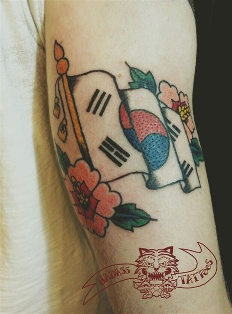 korean flag tattoo korean flag by badass pinit