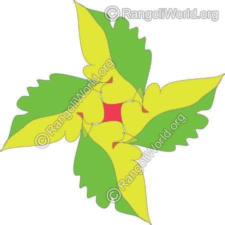leaf pattern rangoli daily rangoli designs simple easy colorful
