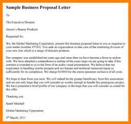 business proposition letter 4 sle of business letter hostess resume