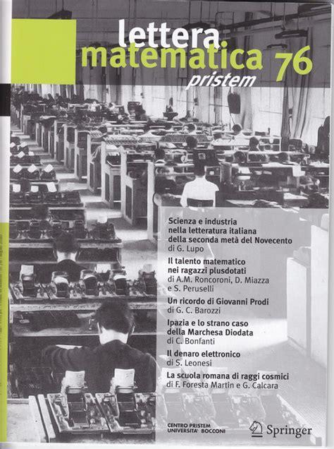 librerie universitarie genova lettera matematica pristem matepristem