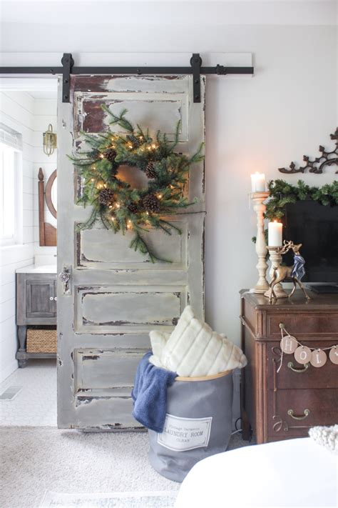 rustic christmas master bedroom shades  blue interiors