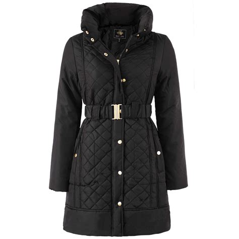 Womens Quilted Winter Coats by Brave Soul Winter Coat Hooded Parka Padded Womens