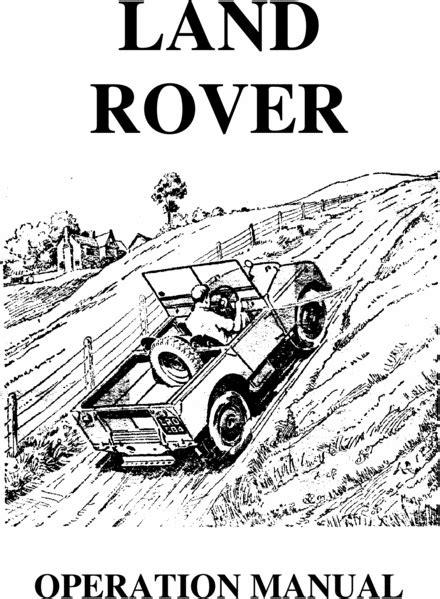 Handleidingen voor Land Rovers - Land rovers en Handleiding