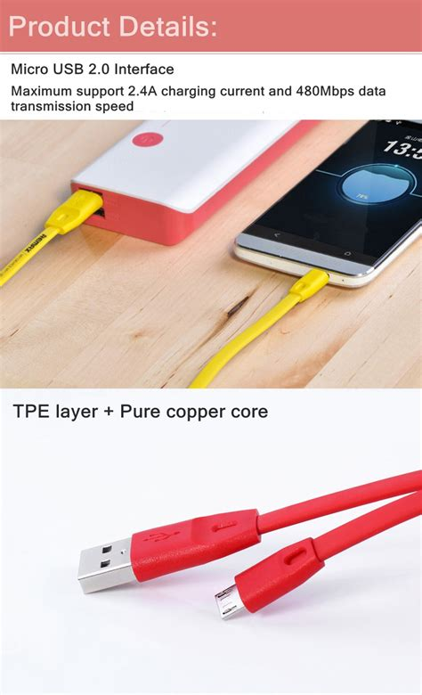 Remax Lovely Micro Usb Cable raya deal original remax charging data cable series for micro usb 2 in 1 type c 11street