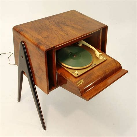 Turntable Cabinet by Italian Wood Cabinet With Turntable 1940s At 1stdibs