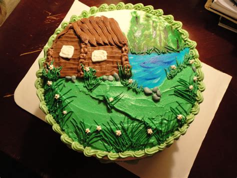 Log Cabin Cakes by Cabin Lake Outdoor Nature Cake Cakes