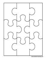 puzzle template 8 pieces blank puzzle 9 pieces card stock template and puzzle