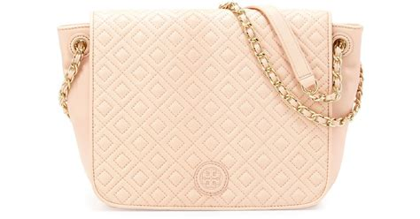 Burch Quilted Small Shoulder Bag Original burch marion quilted small flap shoulder bag in
