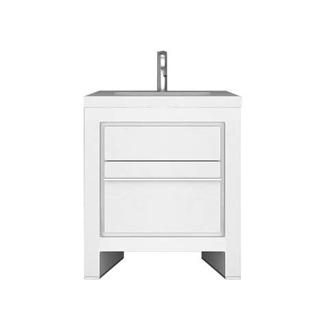 Sloan Bathroom Vanity - jade bath sloan 28 inch single freestanding modern white