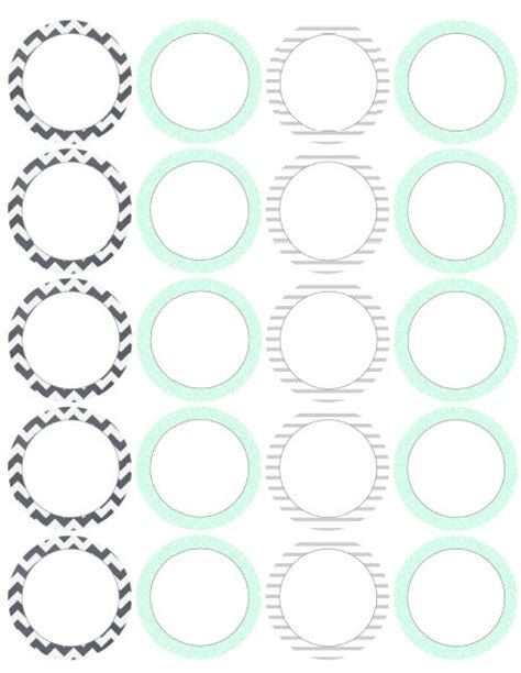 17 Best Round Labels And Round Label Template Printables Images On Pinterest Printable Labels Circle Label Template