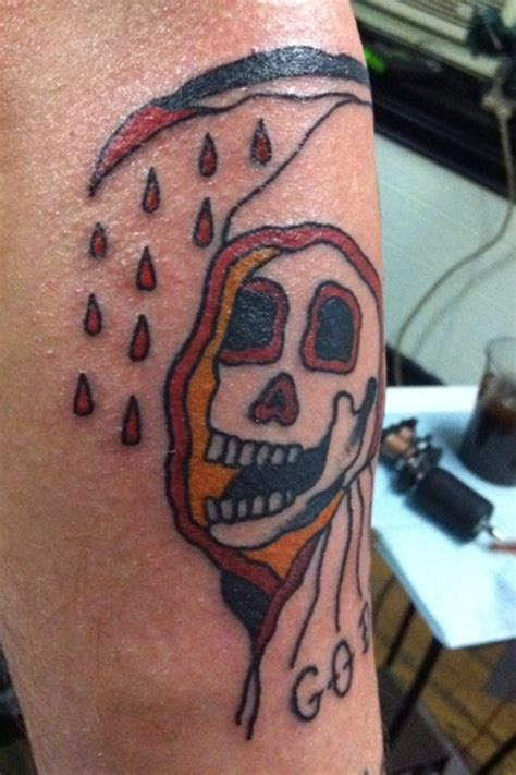 old coloured grim reaper tattoo tattooimages biz