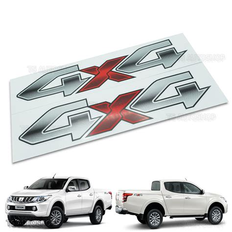 Sticker Offroad 4x4 Gress Model 4x4 road sticker logo silver decal for mitsubushi l200 triton 2015 2016 4x4 ebay