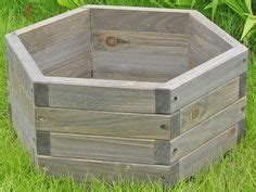 Landscape Timber Hexagon Landscape Timber Bowl Planter Craft Ideas