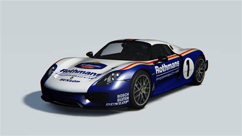 porsche rothmans porsche 918 rothmans racing racedepartment