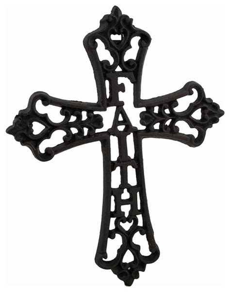 Decorative Stones For Vases Cast Iron Faith Decorative Wall Mounted Cross
