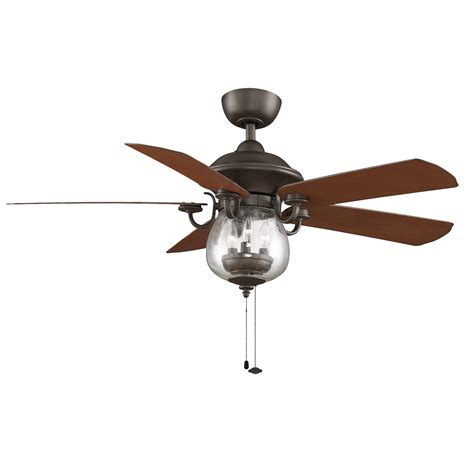Rubbed Bronze Ceiling Fan fanimation fp7954ob crestford collection 52 inch ceiling