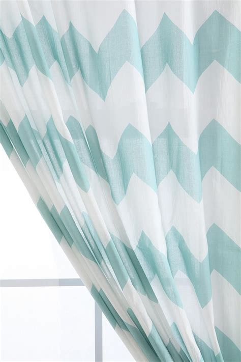 light blue chevron curtains zigzag curtain urban outfitters front rooms and grey