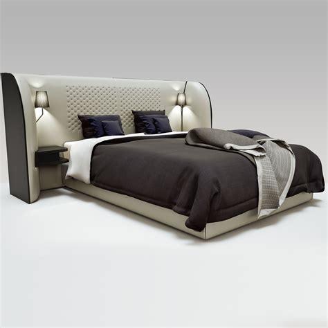 3d bed rochebobois cherche midi bed 3d model max obj cgtrader com