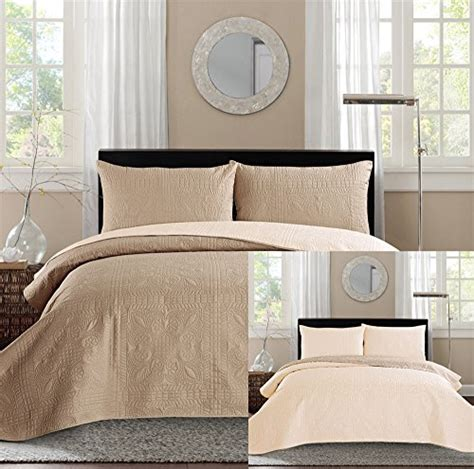 taupe coverlet king new king bed luxury 3 piece taupe beige reversible