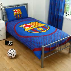 Soccer Bed Set Fc Barcelona Barca Football Blue Reversible Duvet Quilt Cover Bedding Set Ebay