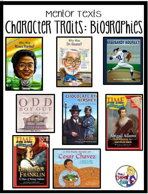 picture books that teach character traits 17 best ideas about biographies on biography