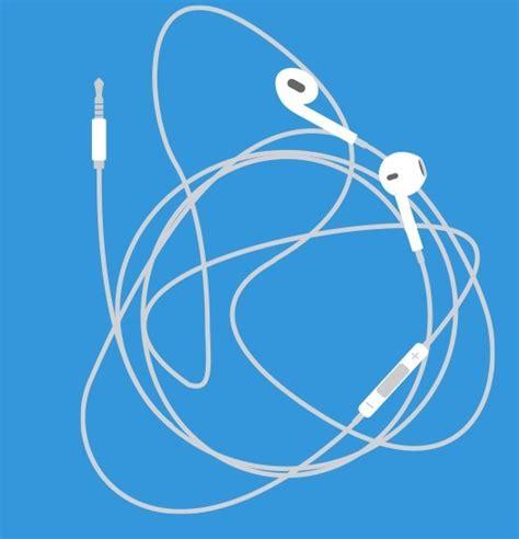 flat apple earpods vector titanui
