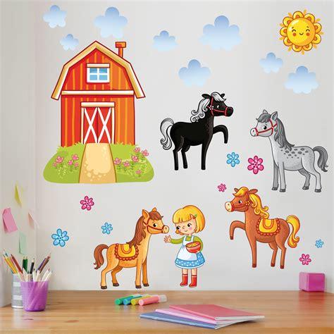 Wandtattoo Kinderzimmer Bauernhof by Wandtattoo Kinderzimmer Bauernhof Set Mit Pferden