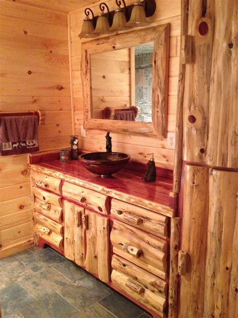 rustic cabin bathrooms cabin bathroom rustic amish made ideas for the home