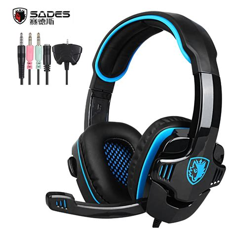 Sades Sa 708 G Power Gaming Headset Original original sades sa 708gt gaming headset headphones stereo computer gamer earphones with