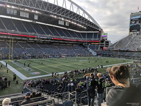 what sections are covered at centurylink field centurylink field section 215 seattle seahawks