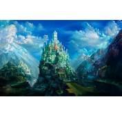 Mountain Castle Wallpaper 1828