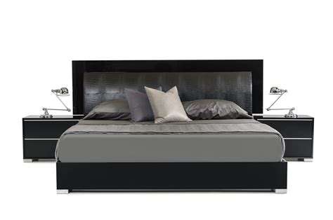 modern bed modrest grace italian modern black bedroom set