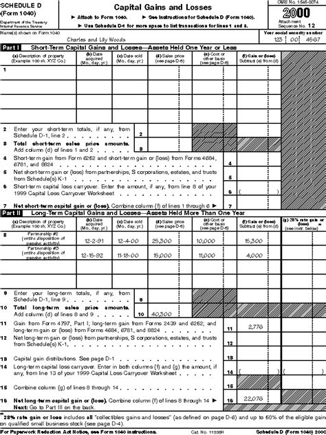 section 1250 gain exle 28 schedule d worksheet capital gains tax worksheet