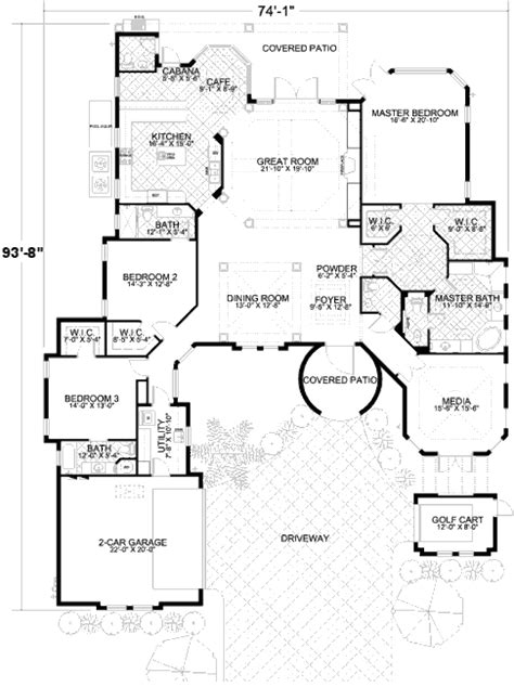 Craftsman Farmhouse Plans mediterranean style house plan 3 beds 3 5 baths 3446 sq