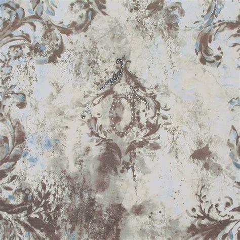 grey wallpaper with crystals kandola mirror mirror swarovski crystallized wallpaper