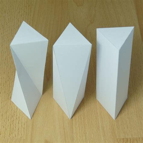 Rectangular Prism Origami - twisted triangular prism triangular antiprism